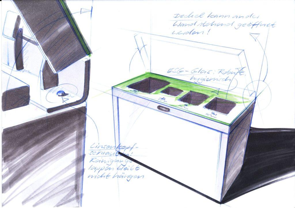 Multilith Recyclingstation, Wertstoffbehälter für PET, Alu, Abfall, public waste bins, Abfallbehälter, PET Recycling