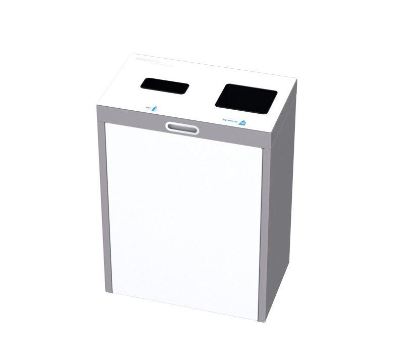 Recyclingstation Multilith 2.0, Recycling Station, Wertstofftrenner, Entsorgungssystem, Abfallbehälter, Müllbehälter, Recyclingbox, 110l, PET, public waste bins
